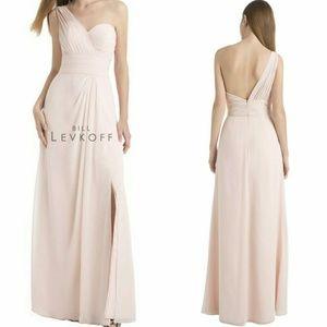 Bill Levkoff One Shoulder Chiffon Gown Bridesmaid